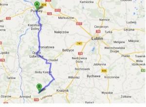 trasa Pułąwy-Księżomierz